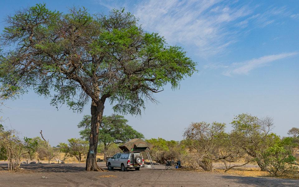 Unsere Campsite in Savuti | Botswana