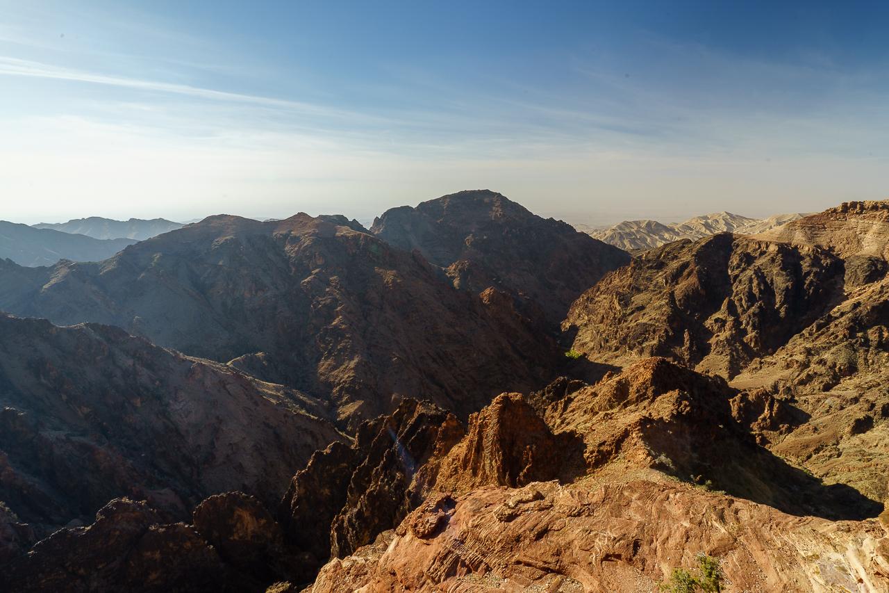 Felsenstadt Petra Jordanien Ausblick bis Israel