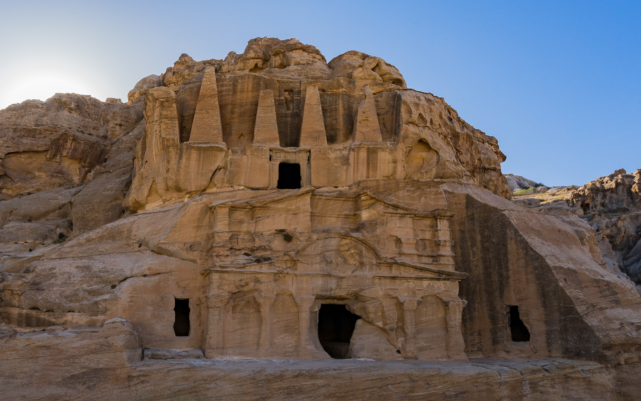 Felsenstadt Petra Jordanien Tipps Obeliskengrab