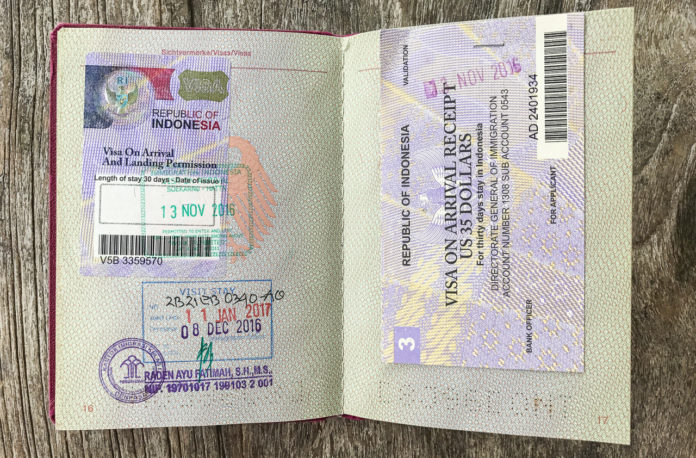 Visum Indonesien verlängern 30 Tage