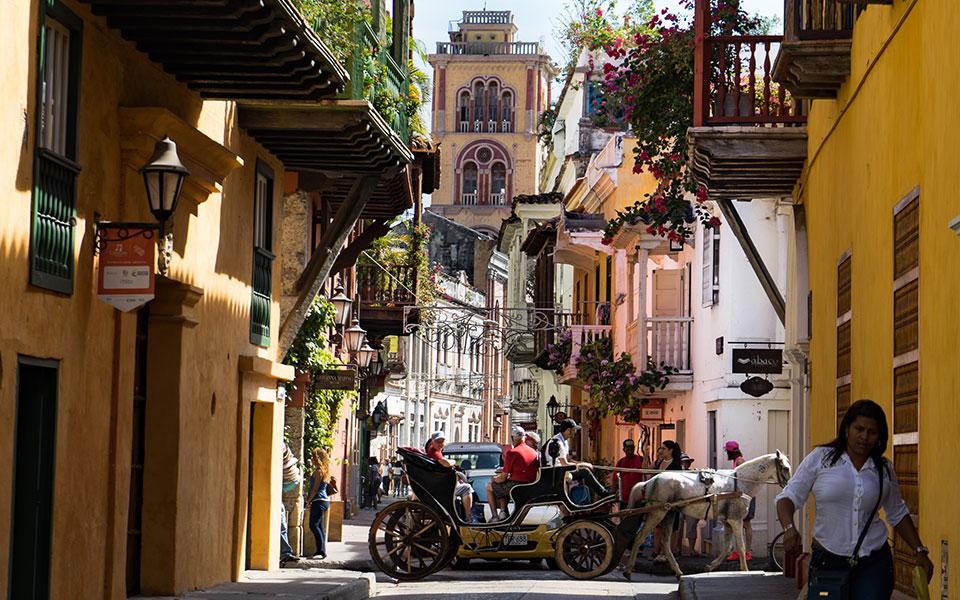 Altstadt von Cartagena tolle Aussichten auf Kirche