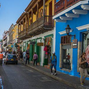 Cartagena bunte karibische Häuser