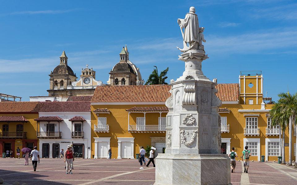 Kolumbusstatue Cartagena Kolumbien Plaza de la Aduana