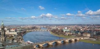 Aussicht auf die Elbe in Dresden