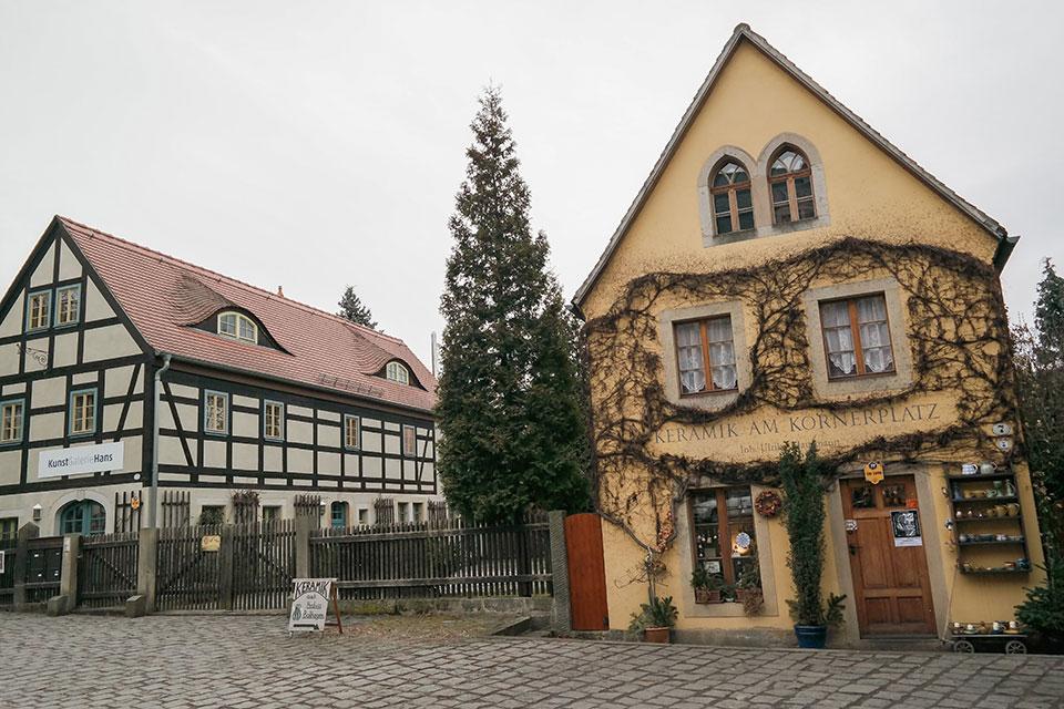 Dresden Loschwitz schräge Häuser