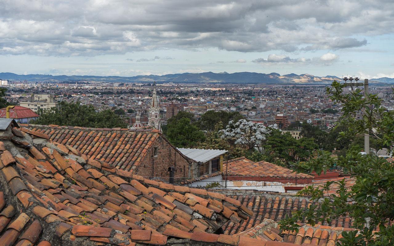 Kolumbien Reisebericht Bogota Aussicht Hotel