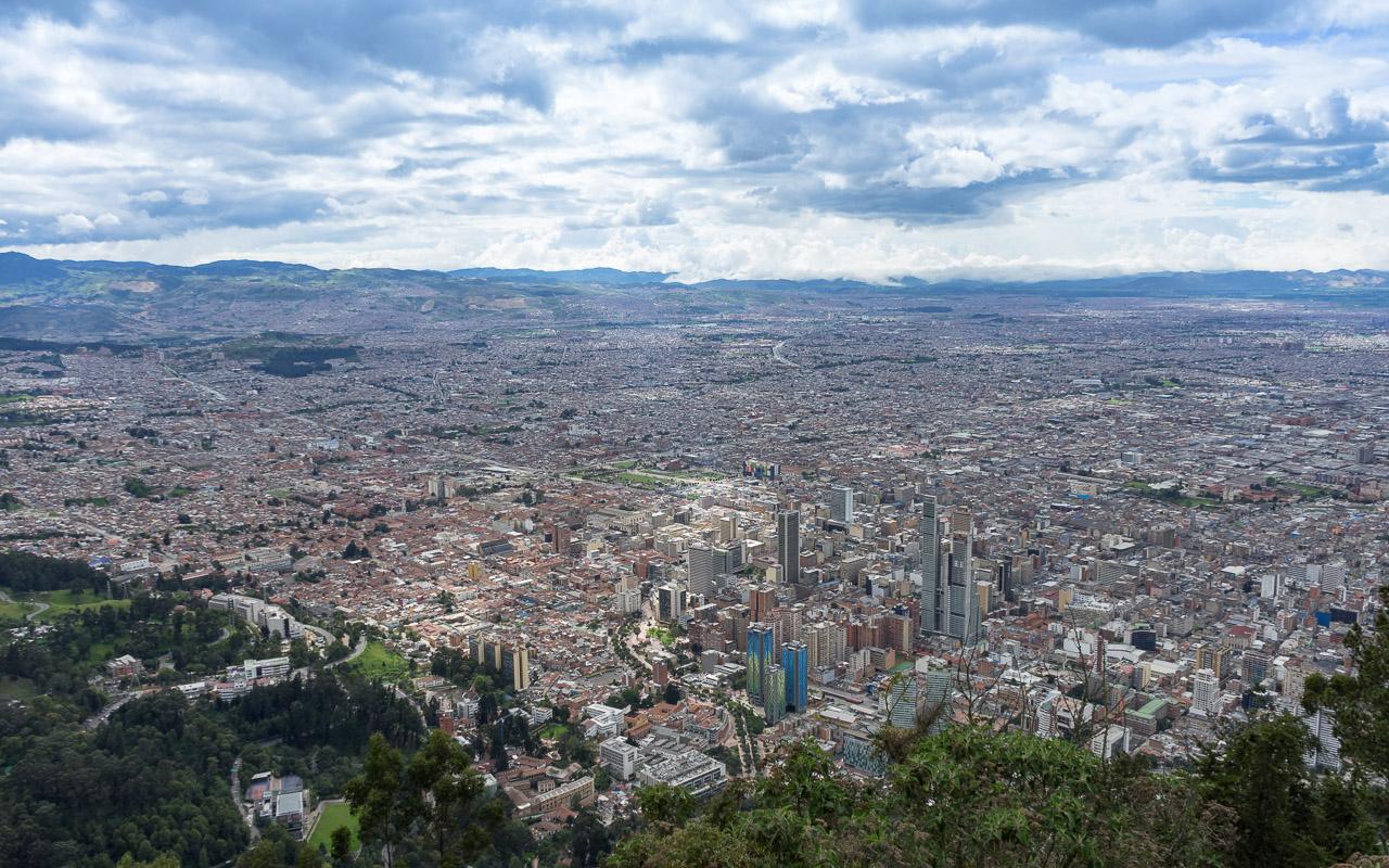 Kolumbien Reisebericht Aussicht Monserrate Bogotá