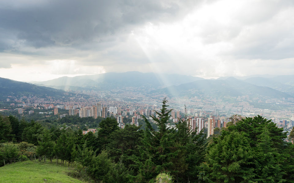 Aussicht vom View Point in Medellin