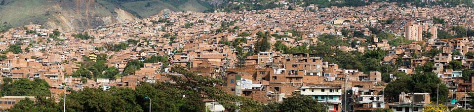 Häusermeer Medellin Comuna 1 Santo Domingo