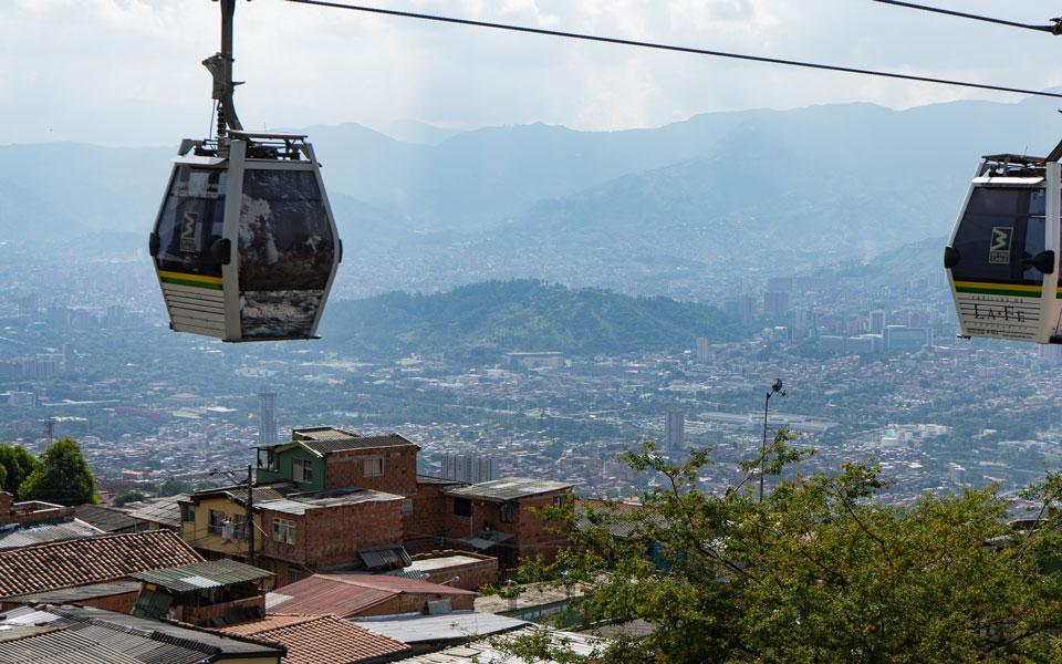 Seilbahn fahren nach Santo Domingo in Medellin