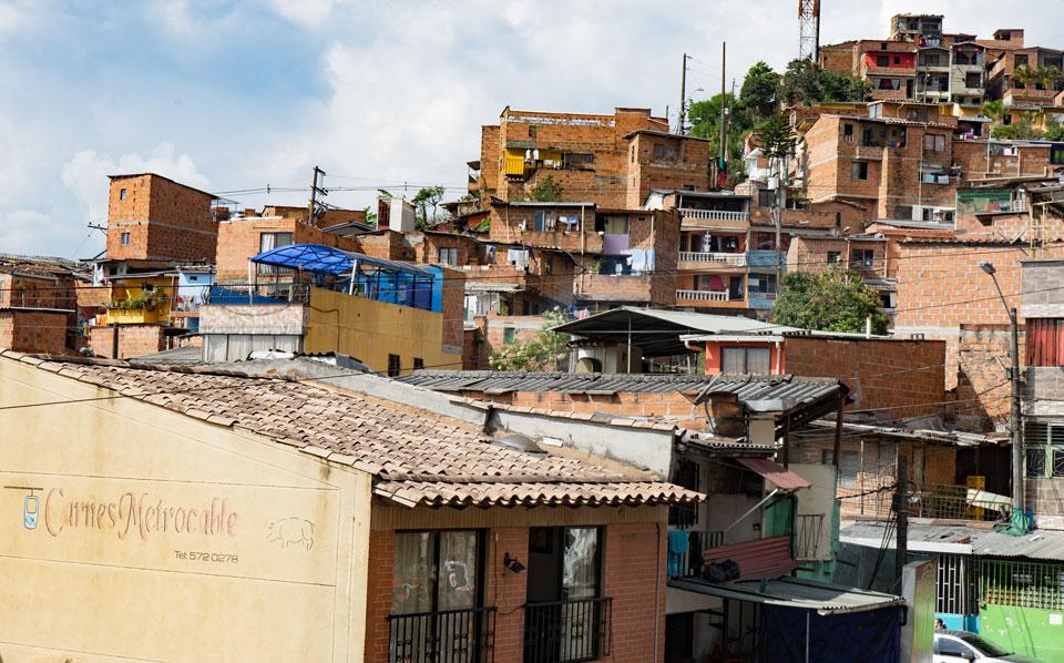 Santo Domingo Medellin ein Haus geht ins nächste über