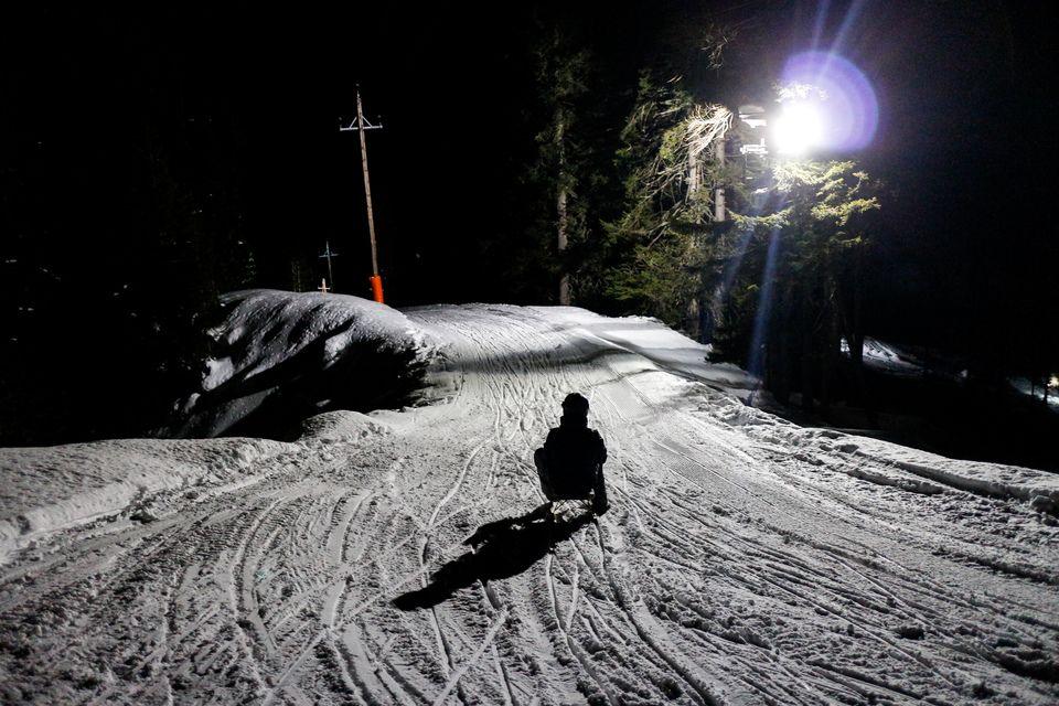 Nachtrodeln bei Flutlicht an der Gnadenalm in Obertauern