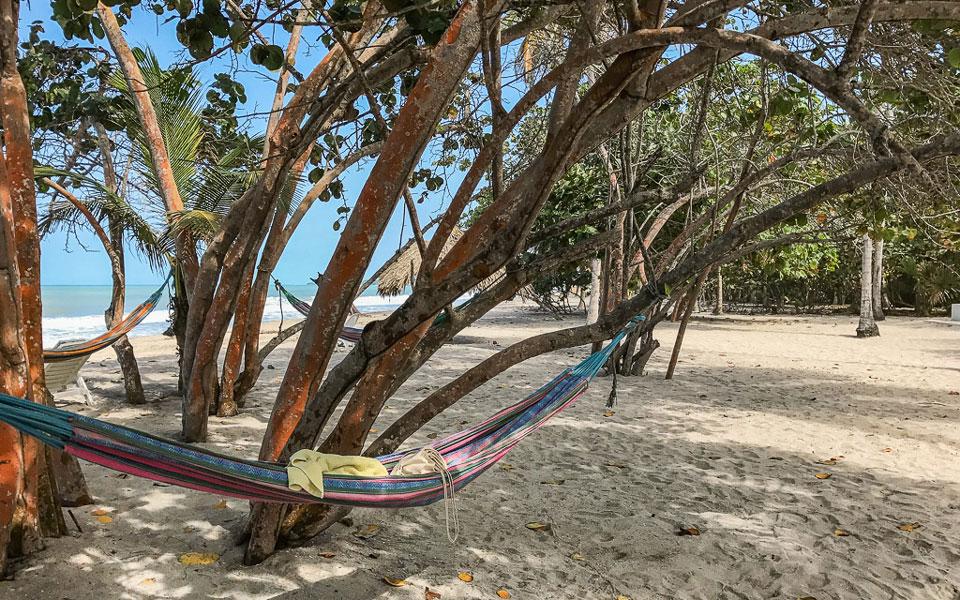 Hängematten am Strand von Palomino