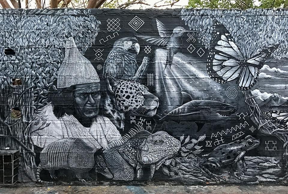 Street Art in der Altstadt von Santa Marta