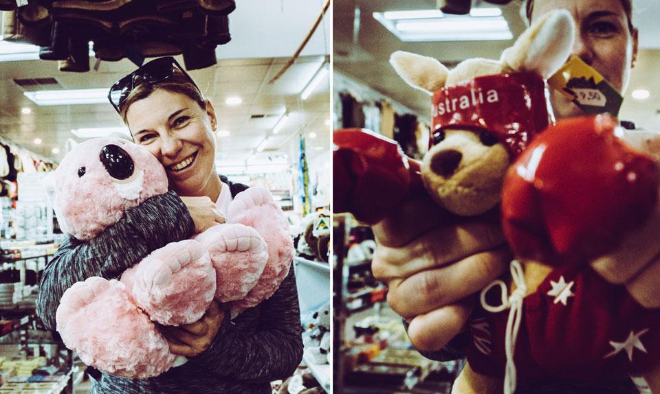 Chinatown Adelaide kitschige Souvenirs kaufen