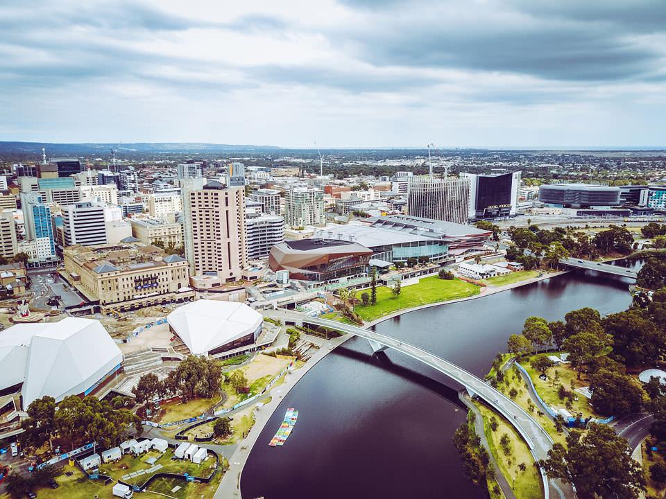 Adelaide Luftaufnahme Drohnenbild