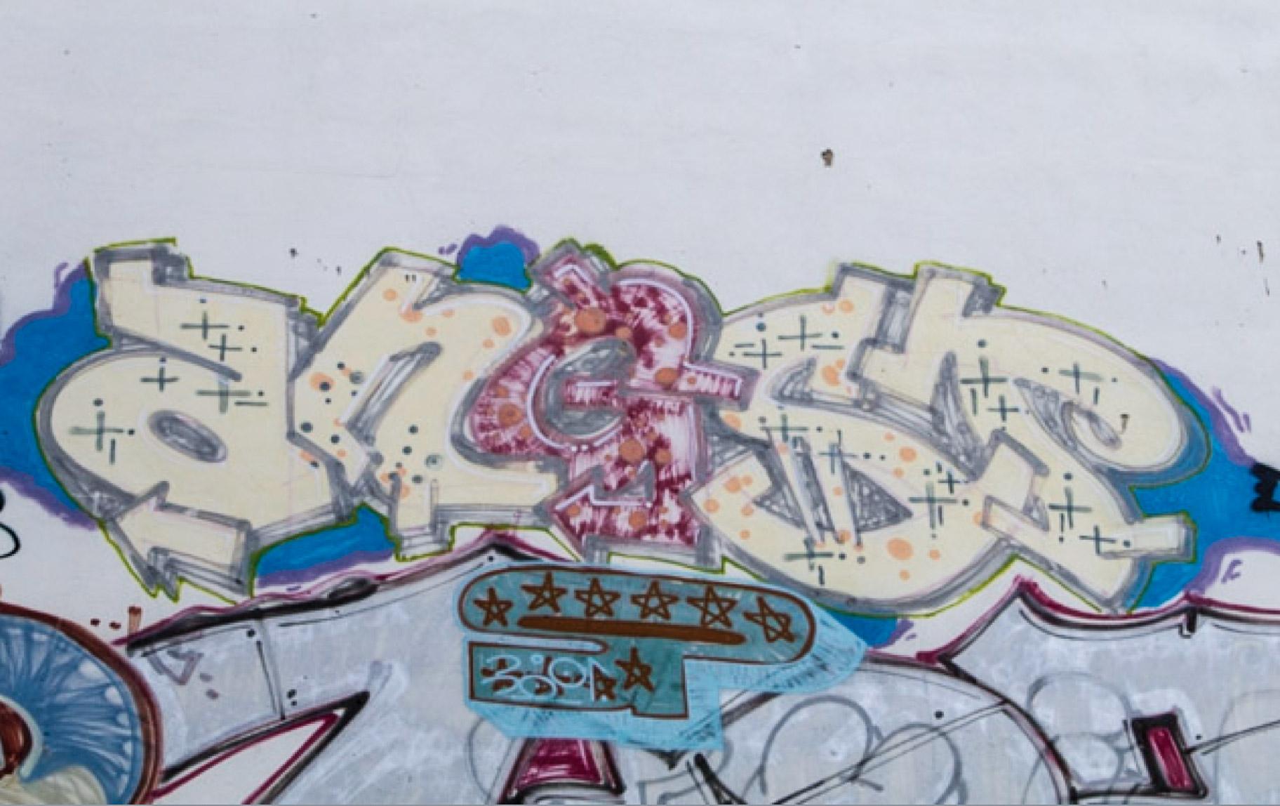 Berlin Street Art von CBS - Angst Graffiti
