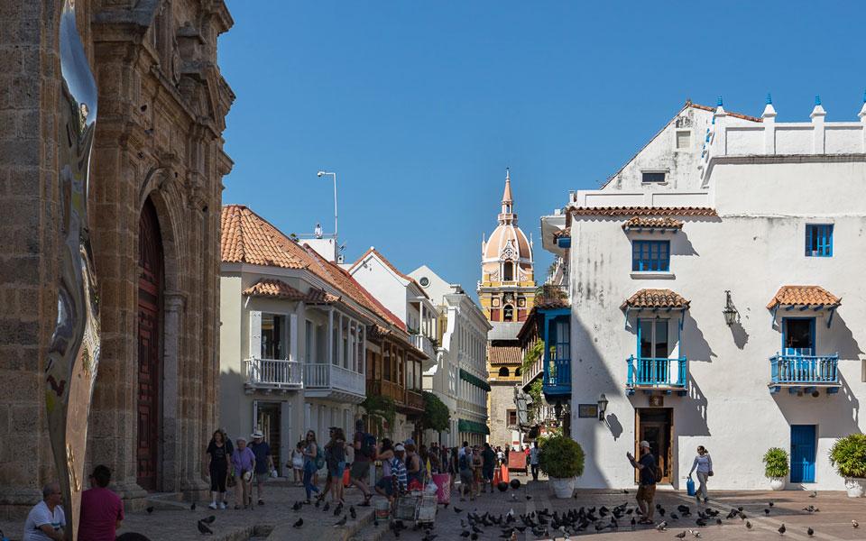 Viele Menschen in Cartagena am Tag