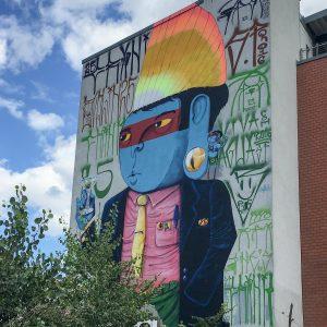 Blauer Indianer Punk am Holzmarkt Berlin | Cranio