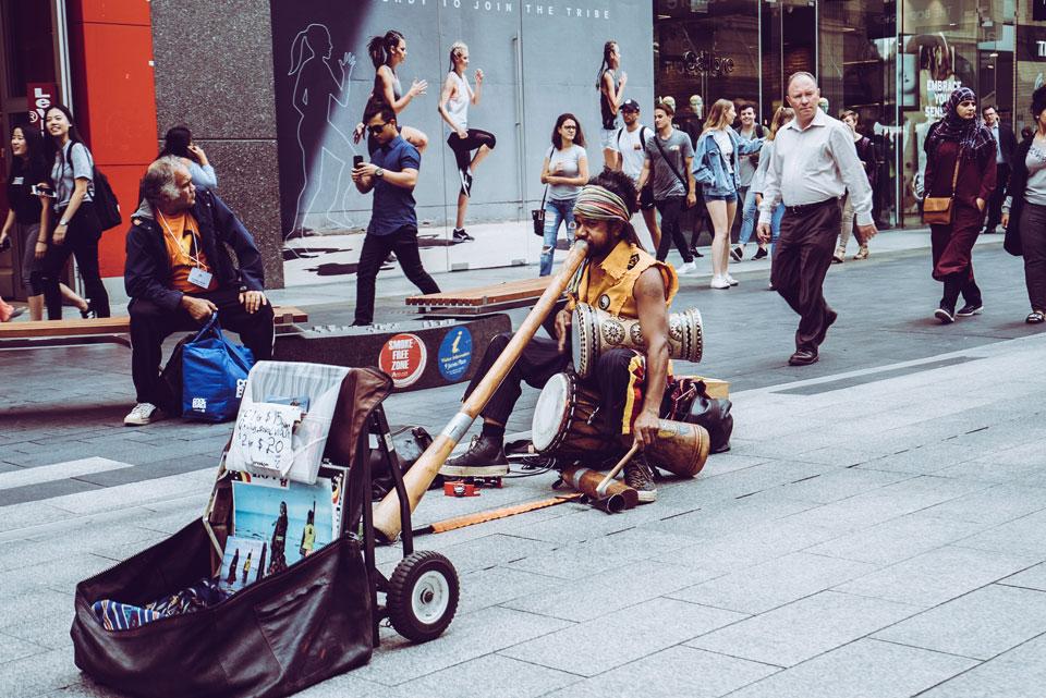 Alleinunterhalter Australien Didgeridoo