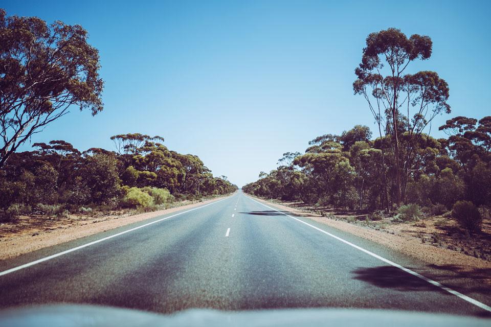 Fahrt von Eucla nach Kalgoorlie