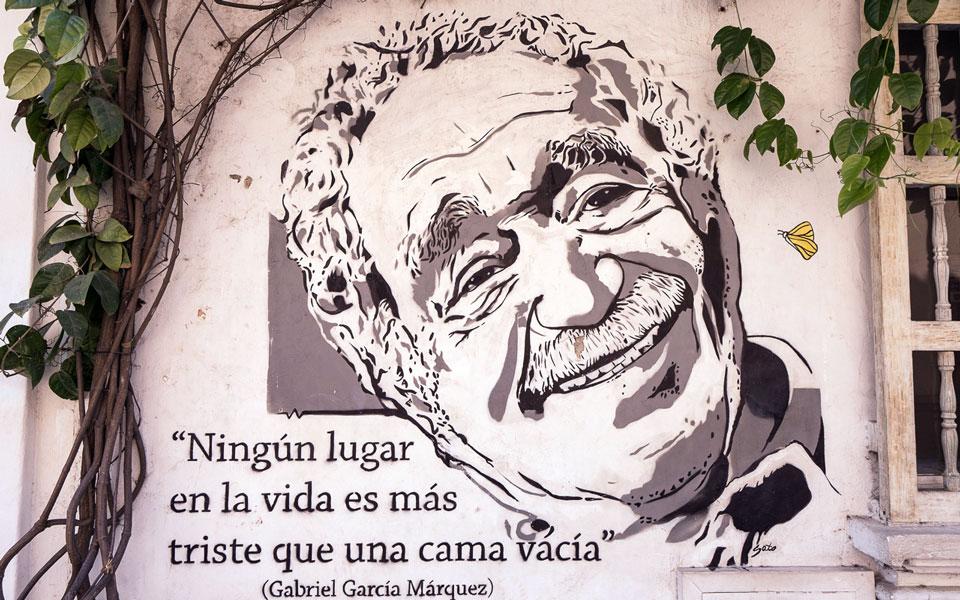 Gabriel García Márquez Sprüche an den Wänden Cartagenas