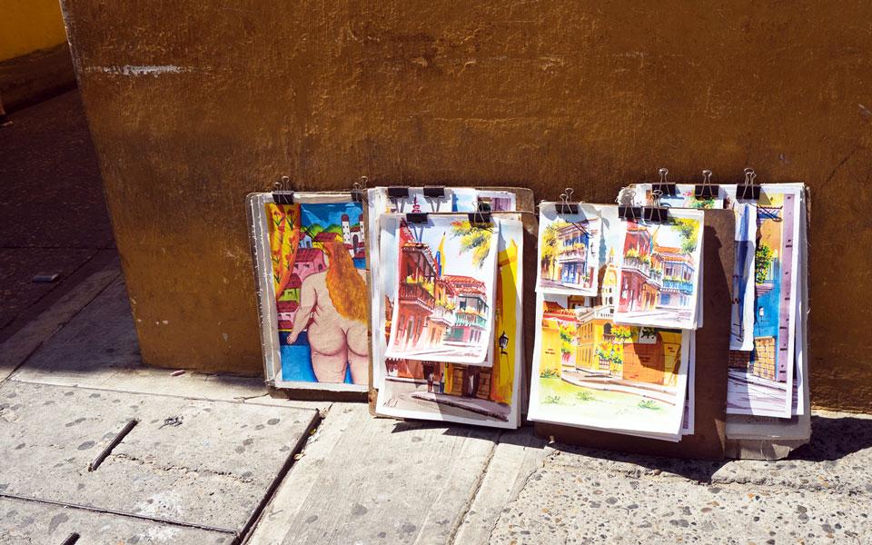 Kunst in Cartagena Kolumbien