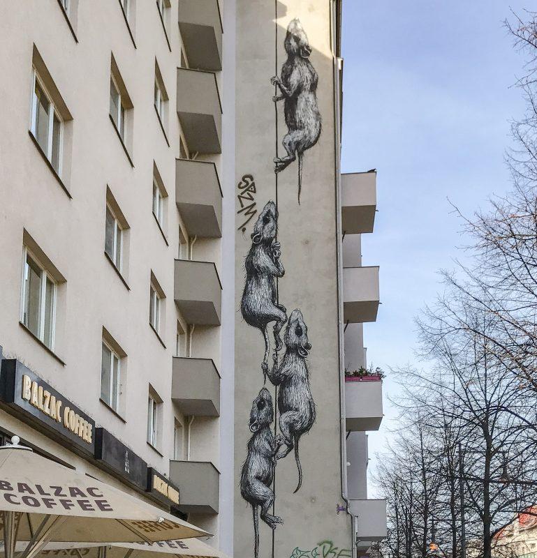 ROA Ratten Mural Prenzlauer Allee Berlin