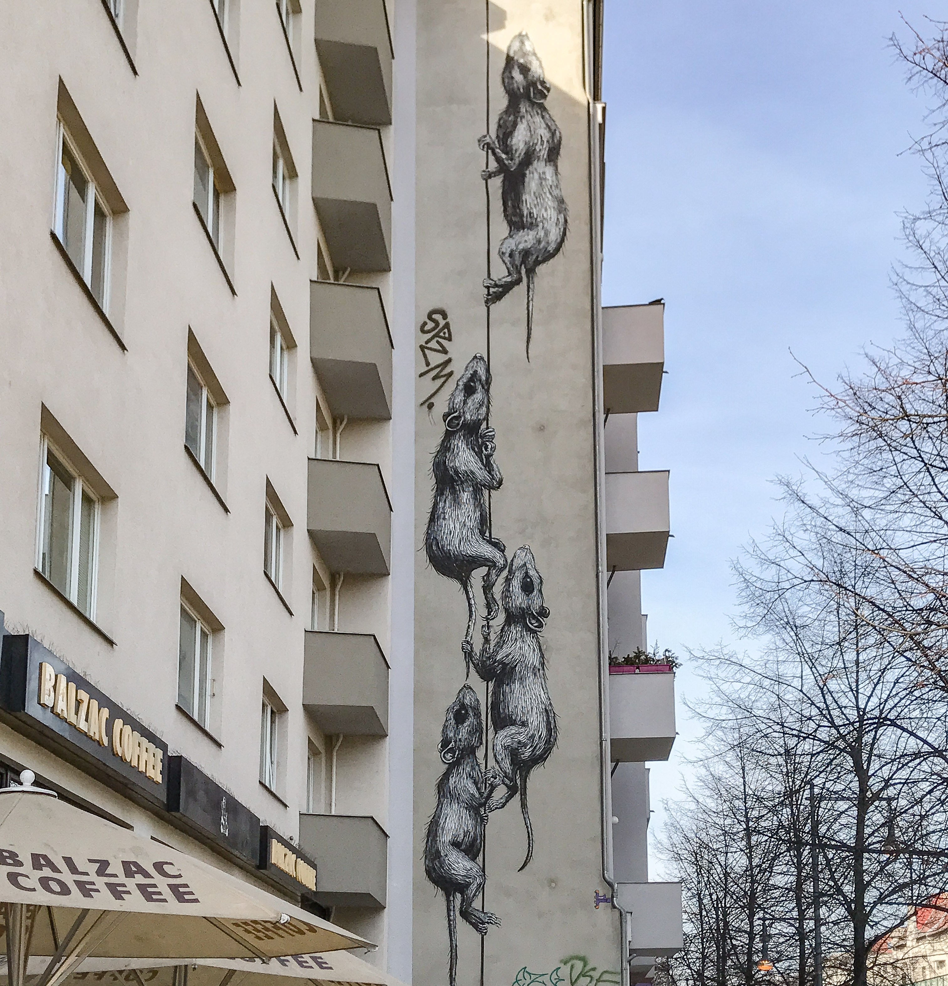 ROA Ratten Mural Schönhauser Allee Berlin