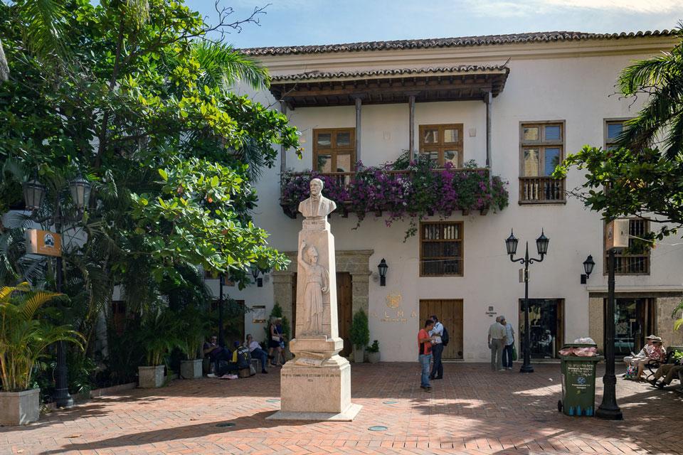 Platz mit Schatten in Cartagena Kolumbnien