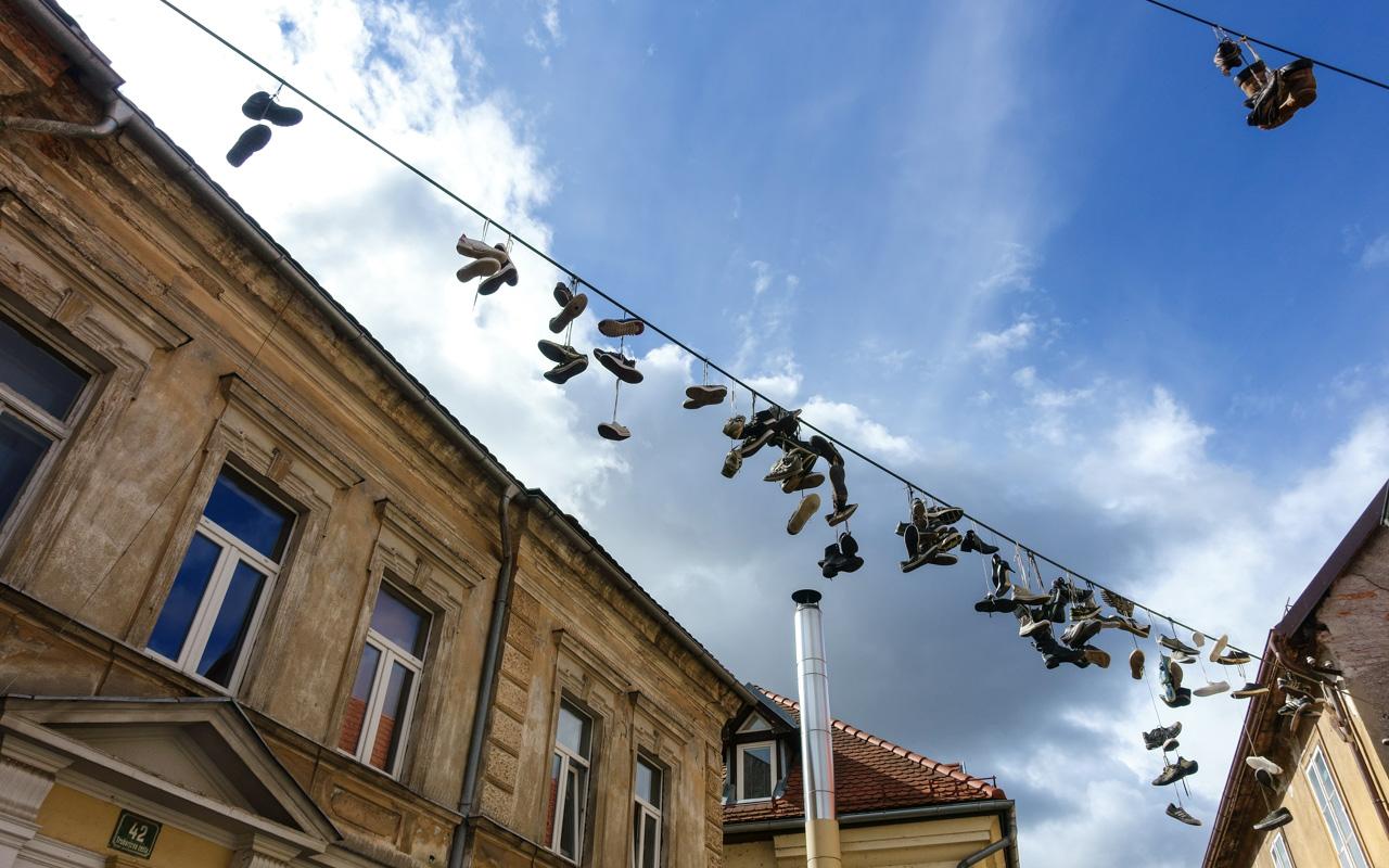 Slowenien Ljubljana Schuhe