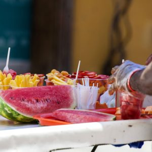 Streetfood Obst Cartagena Kolumbien