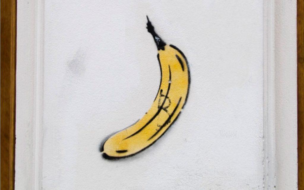 Thomas Baumgarten Bananen Street Art in Berlin