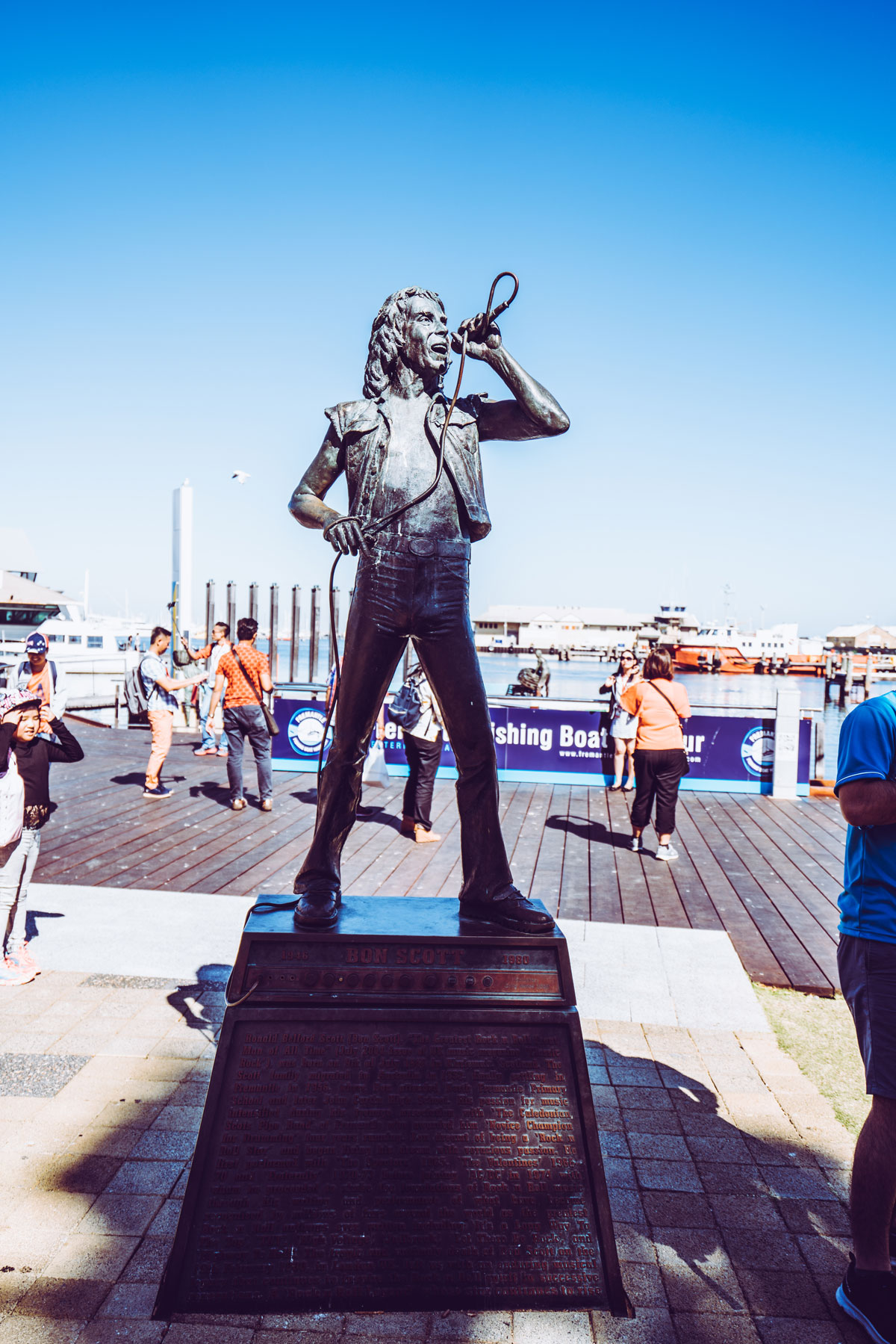 Fremantle Bon Scott Statue AC/DC