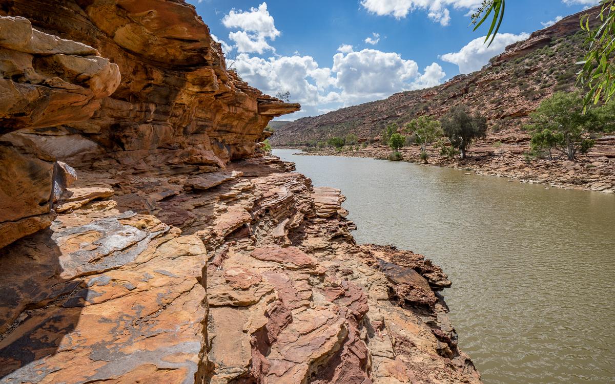 Loop Trail Kalbarri NP Westaustralien Klettern