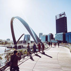 Elizabeth Quay Bridge PErth