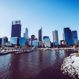 Skyline von Perth, ELizabeth Quay