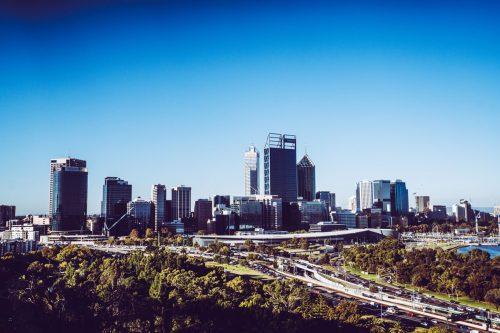 Blick vom Kings Park auf Perth