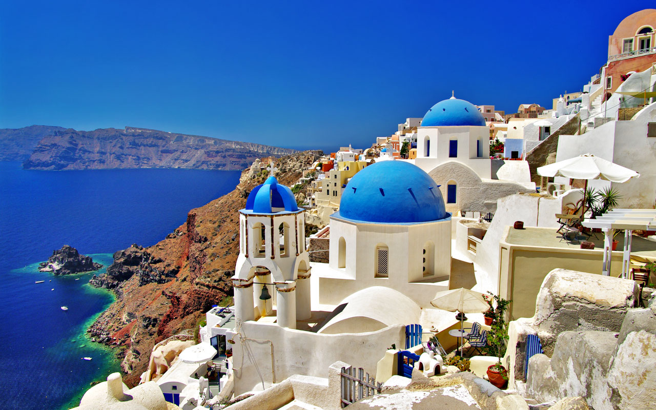 Urlaub im Mai Santorin