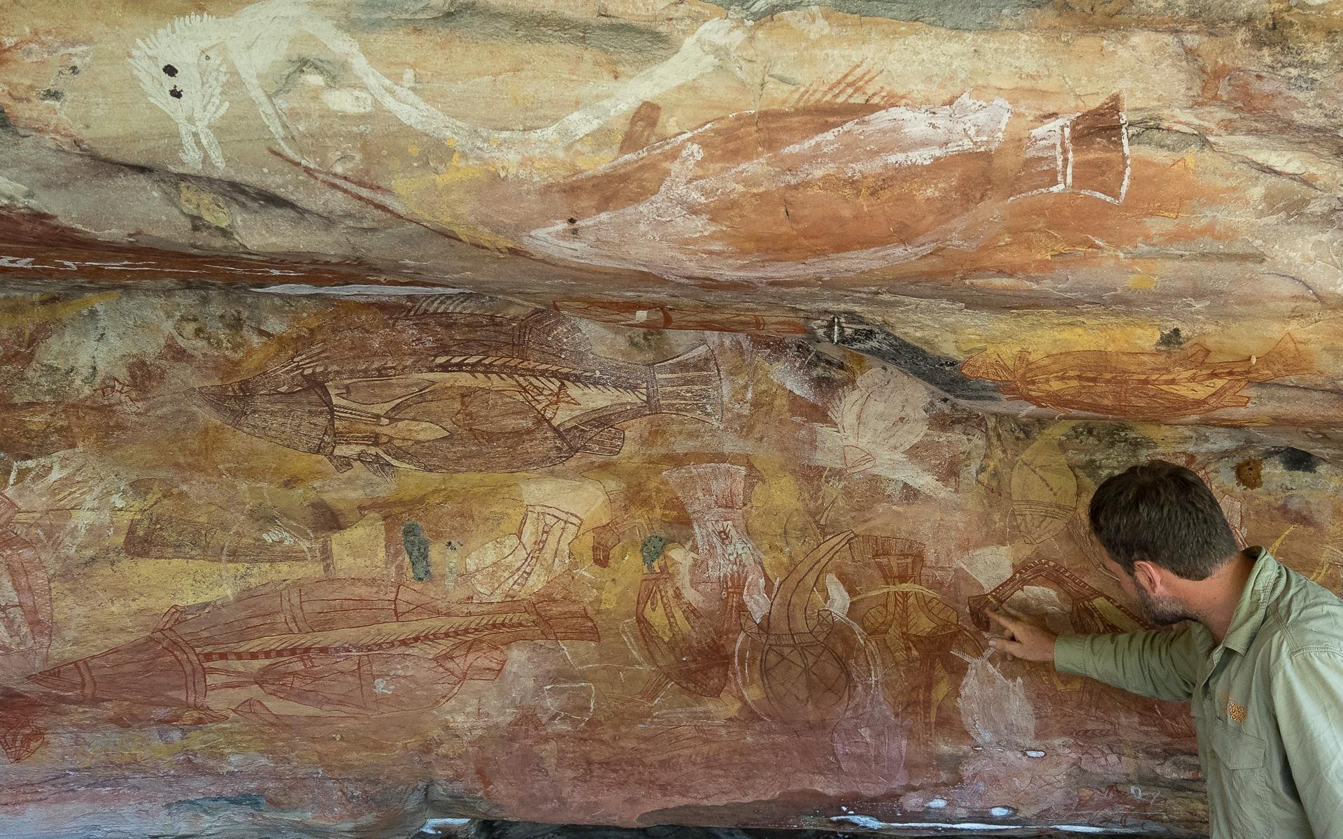 arnhem-land-rock-painting-kakadu-cultural-tour-australien