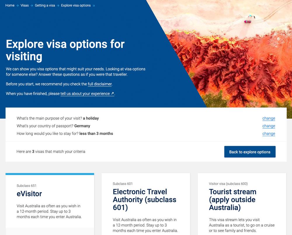 Australien Visum subclass 651 beantragen