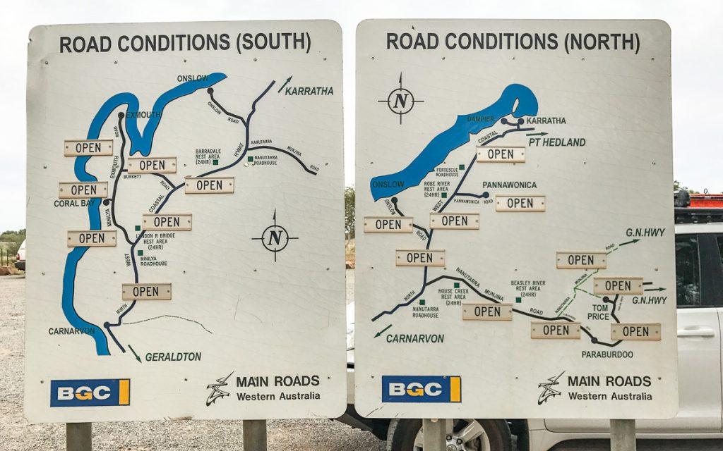Infos über Straßenverhältnisse Westaustralien