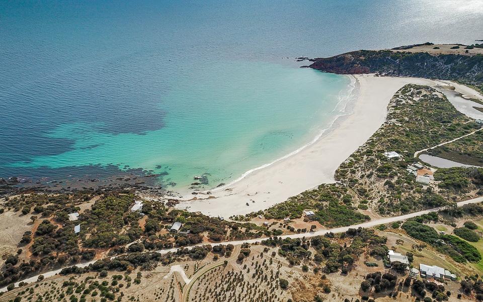 Snelling Beach Droneshot