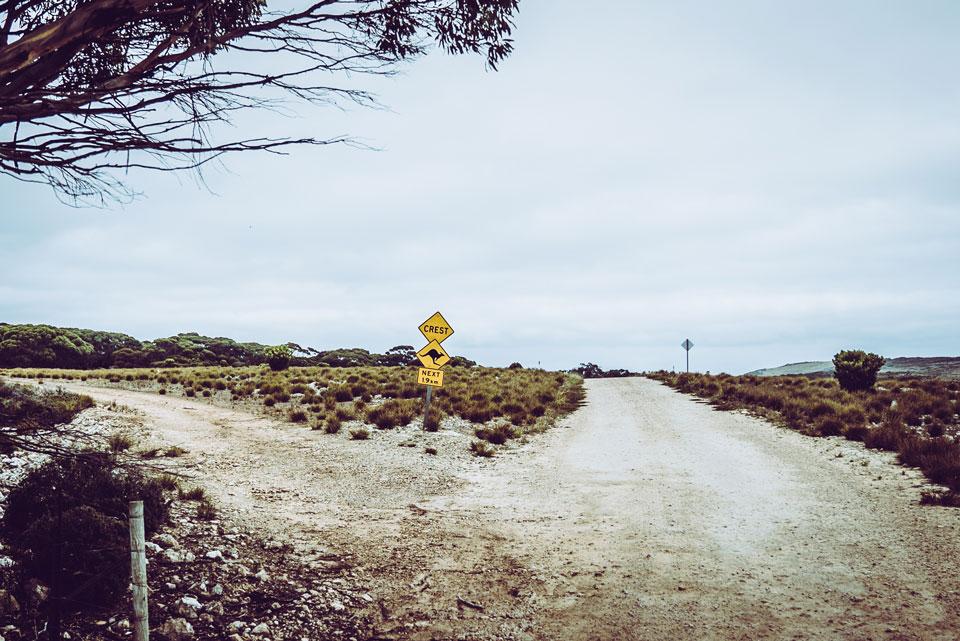 Straßenschild Kangaroo Island