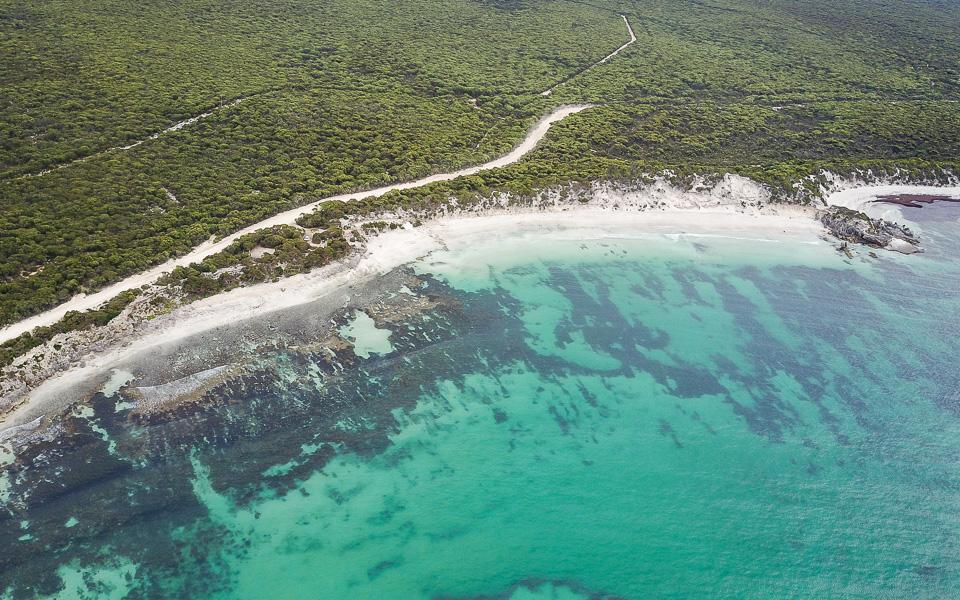 Vivonne Bay Kangaroo Island Luftaufnahme