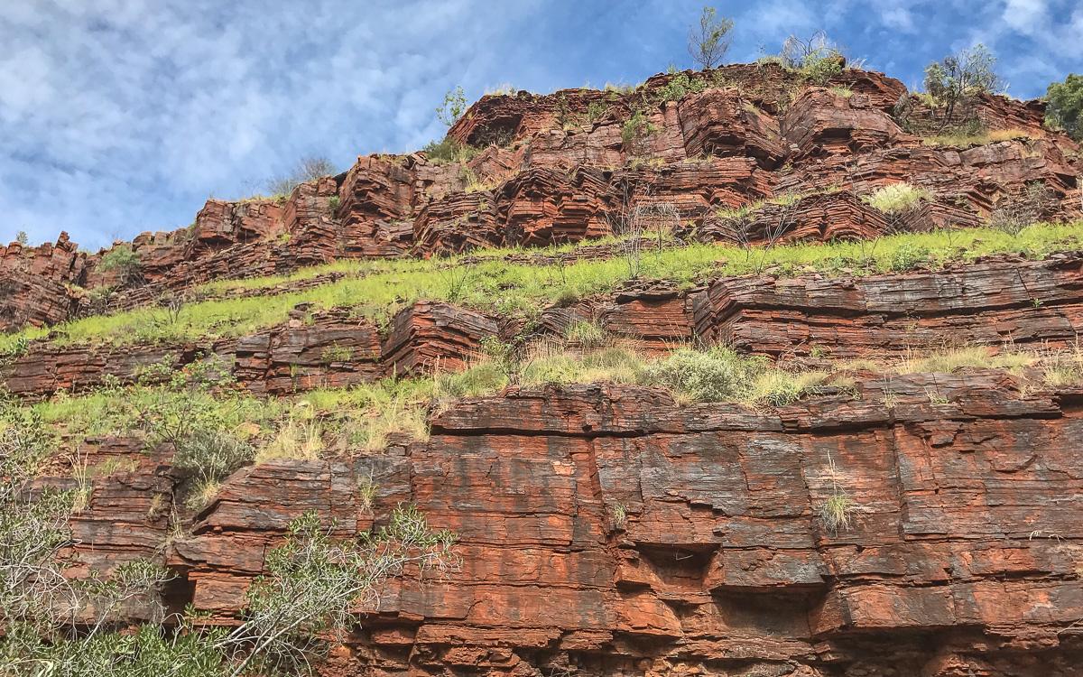 Rote Felswände Dales Gorge Karijini NP, Westaustralien