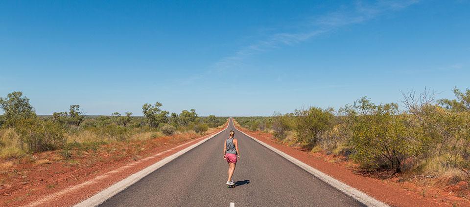 Straßen von Australien Outback