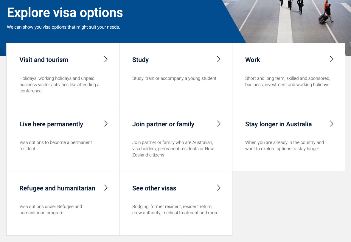 Australien Visum: Visa Finder nutzen
