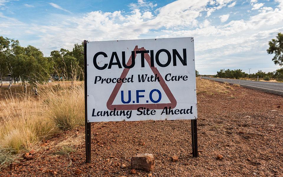 Wycliff Well Ufo Capital Roadhouse Australien Outback