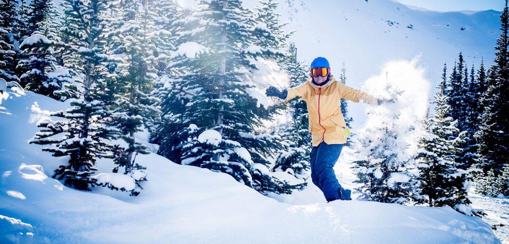 Kanada Jasper Snowboarden Winter